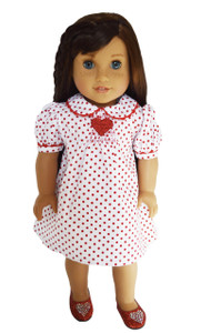 My Brittany's Red Heart Valentines Day Dress for American Girl Dolls