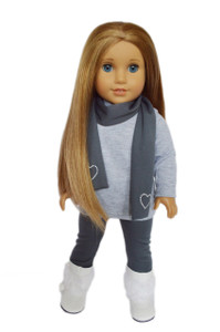 My Brittany's Grey Leggings Set for American Girl Dolls-18 Inch Doll Clothes
