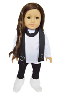 My Brittany's Black and White Leggings Set for American Girl Dolls