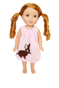 My Brittany's Whimsical Easter Bunny Dress for Wellie Wisher Dolls
