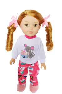 My Brittany's Cupcake Pjs for Wellie Wisher Dolls, Glitter Girl Dolls and Hearts to Hearts Dolls-14 Inch Doll Clothes