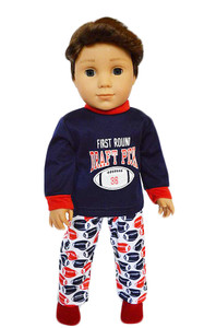 My Brittany's Football Pjs for American Girl Boy Dolls- 18 Inch Boy Doll Clothes