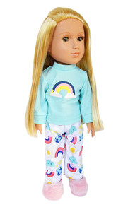 My Brittany's Rainbow Pjs for Wellie Wisher Dolls