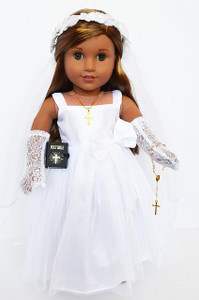 My Brittany's Communion Gown for American Girl Dolls- 18 Inch Doll Communion