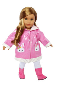 My Brittany's Bunny Raincoat for American Girl Dolls-18 Inch Doll Raincoat