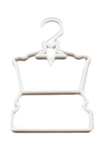 My Brittany's White Heart Hangers for Wellie Wisher Dolls- Hang Your Tops and Bottoms
