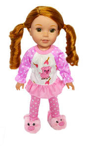 My Brittany's Piggy Pjs for Wellie Wisher Dolls