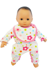 My Brittany's Floral Baby Doll Romper  for Bitty Baby Dolls- 15 Inch Doll Clothes