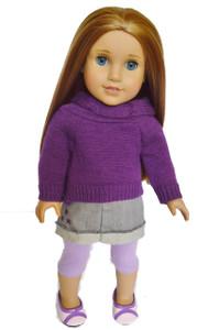 Purple Sweater and Skirt Set