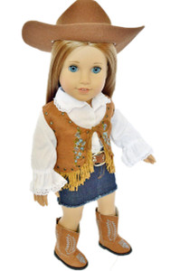 WESTERN OUTFIT FOR AMERICAN GIRL DOLLS