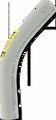 "1 1/2"" 45° PVC Elbow"