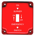 41006   Oil Burner Emergency Plate