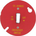 40C   Oil Burner Emergency Plate