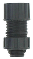 "1/2"" .240 - .580 Plastic Strain Relief Straight Cord Connector"
