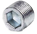 "1"" Explosion Proof Closure Plug with Threads - Steel"