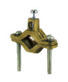 """2-Screw Ground Clamps- 1/2"""" x 1"""" Brass Plated"""