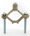 """2-Screw Ground Clamps- 2-1/2"""" x  4""""  Solid Brass"""