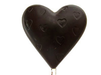 Heart Lollypop with embossed hearts