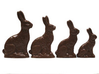 Solid Chocolate Sitting Rabbits