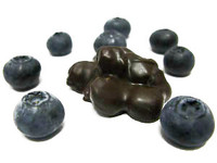 Blueberry Clusters- Dried blueberries mounded in milk or dark chocolate