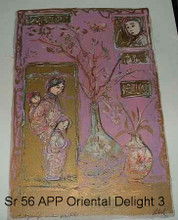 Oriental Delight Artist Proof and Pastel 3