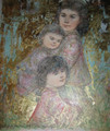Marguerite and Family -Artist Proof and Pastel gold