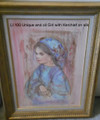 LI 100 UN Unique and Oil Girl with Kerchief - framed