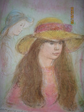 Tina - Artist Proof and Pastel