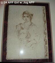 Girl with Jug - Artist Proof and Pencil