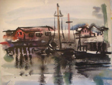 Gloucester boats side by side - Watercolor