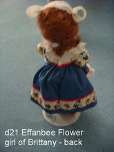 Effanbee Flower girl of Brittany - back