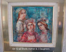 on shells - Mother and two daughters