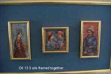 3 oils framed together