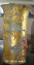 Oil on vase - view 1