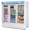 Americooler Reach-in Cooler with 3-Swing Glass Display Door. Model: TGM-72RS  /By Turbo Air/