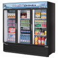 Americooler Reach-in Cooler with 3-Swing Glass Display Door. Model: TGM-72RSB  /By Turbo Air/