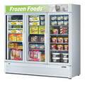 Americooler Reach-in Freezer with Three Swing Glass Display Door. Model: TGF-72SDW