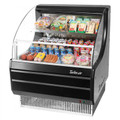 Americooler Horizontal Open Display Cases. Low Profile. Glass Side Panel. Model: TOM-30LB