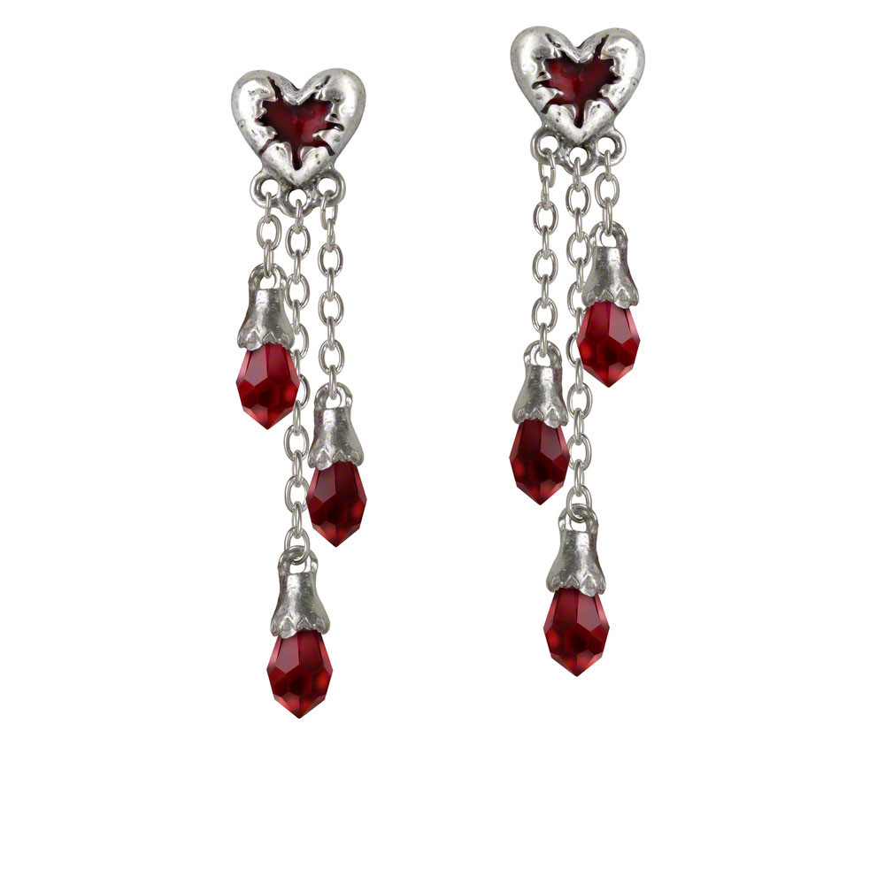 product french size whimsical wire heart os earrings