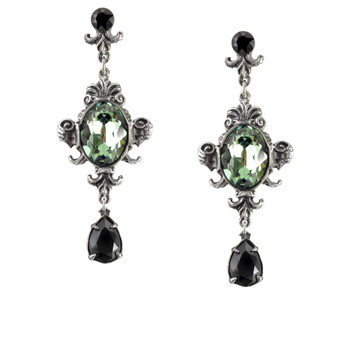E273 - Queen of the Night Earrings