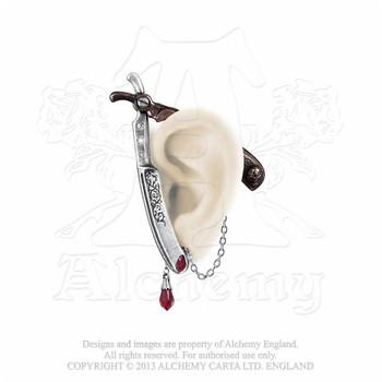 E335 - Cut Throat Ear Wrap Earring