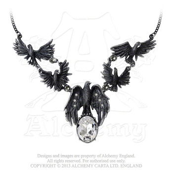 P677 - A Murder of Crows Necklace