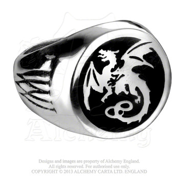 R154 - Wyverex Dragon Signet Ring