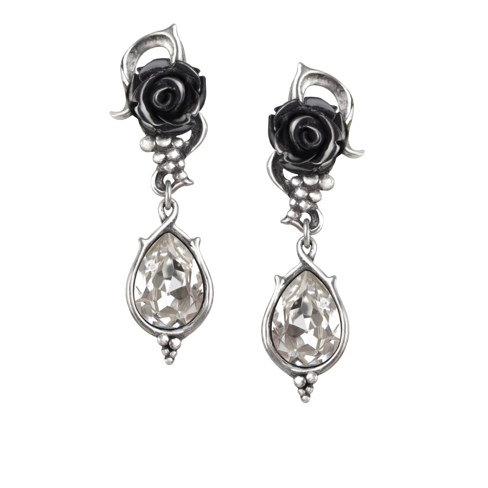 Alchemy Gothic Bacchanal Rose Pair of Earrings x4Jn3