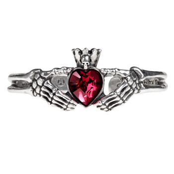 A114 - Claddagh By Night Bracelet