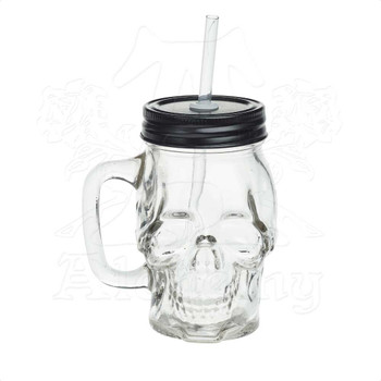 AGJ1 - Glass Skull Drinking Jar