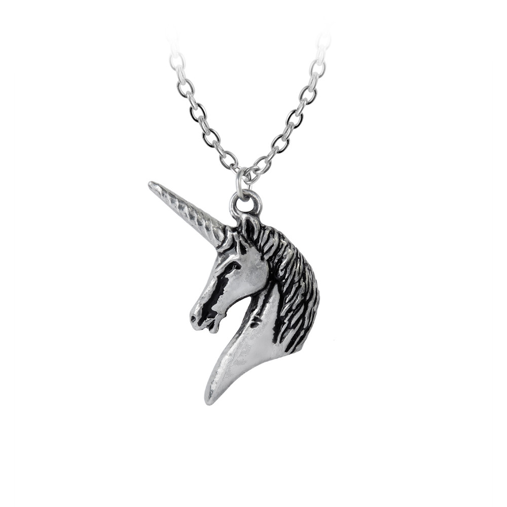 multicolor for products gift jewelry colorful creative item myshape pendant unicorn plated little silver girls necklace