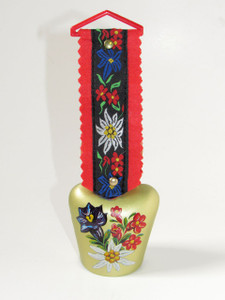 German/Swiss Cow bell With Alpine flowers