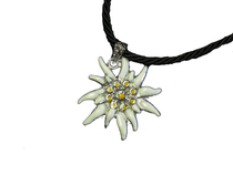 Large White Edelweiss Necklace