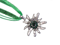 Swarovski Crystal Edelweiss Necklace Green